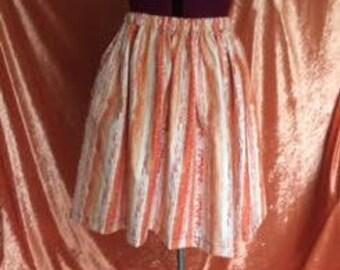 Ivy Gathered Skirt-Orange