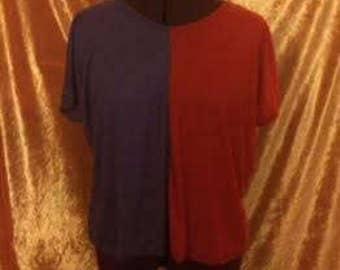 Gretchen Crop Top-Purple/Red