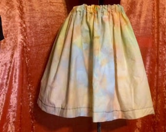 Ivy Gathered Skirt- Hand Dyed