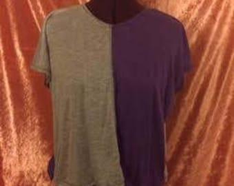 Gretchen Crop Top-Purple/Gray