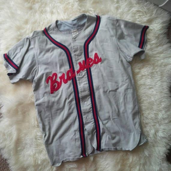 Braves Jersey Vintage Braves Baseball Jersey South