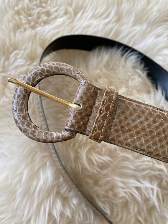 Genuine Snake Skin Belt Reptile Leather Snake Belt