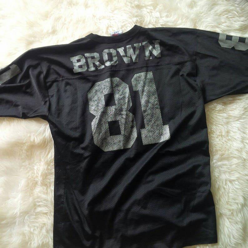 best cheap c30b8 d7b02 Rare Jersey Tim Brown Oakland Los Angeles Raiders Jersey NFL #81 Size L  46-48