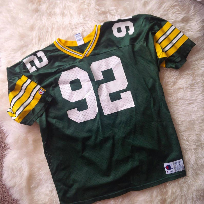 timeless design ec5eb 30703 Green Bay Packers Jersey Vintage NFL Reggie White Vintage Champion Jersey