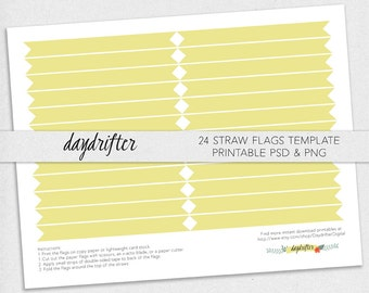 straw flag template etsy