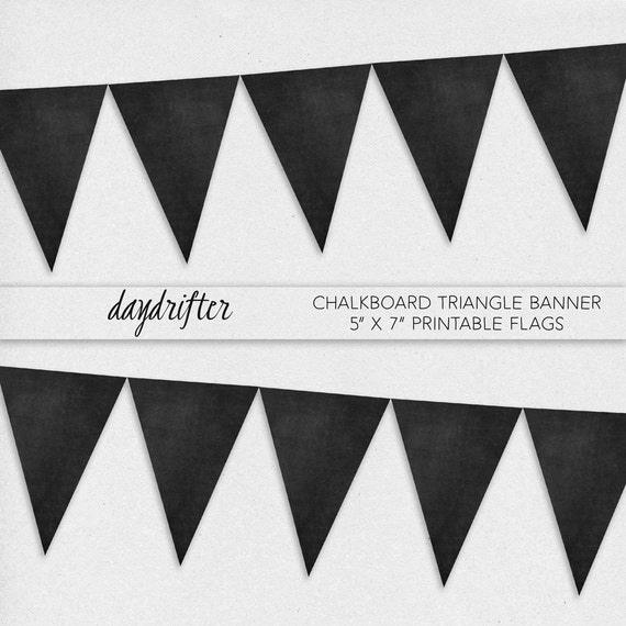 Print Your Own Chalkboard Pennant Banner - DIY Digital Download ...