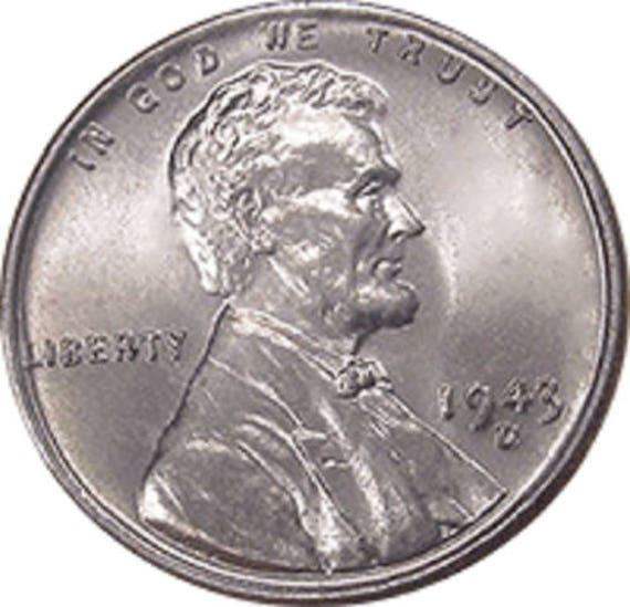 1943 P Uncirculated World War II wheat Cent