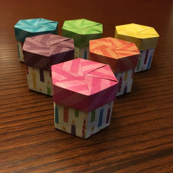 Origami Cupcake Birthday Favor Box Etsy