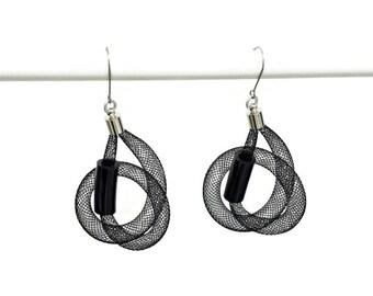 Contemporary earrings Hypoallergenic earrings Round earrings Dangle earrings Unique handmade earrings.