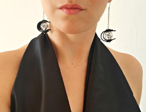 Moderne Ohrringe Gummi Lange Ohrringe Baumeln Glas Ohrringe Etsy