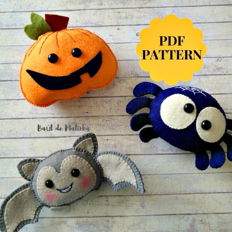 Feltro modelli Halloween ragno zucca di feltro feltro  eb0576b56ada
