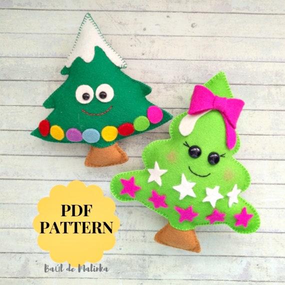 Felt Christmas Tree Ornaments Patterns.Christmas Tree Ornament Pattern Felt Tree Pdf Pattern Christmas Ornaments Felt Pattern Tree Sewing Tutorial Christmas Diy Ornaments