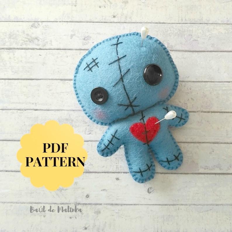 Voodoo Doll Toy Teddy Halloween Pin Cushion
