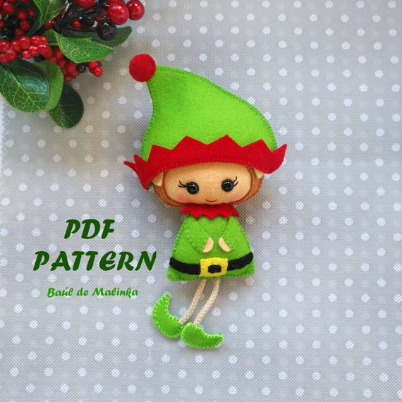 Is this the cutest felt Christmas Elf sewing pattern? It's just so sweet!