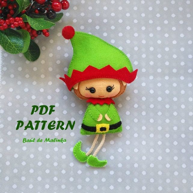 Felt Sewing Pattern Elf Doll Pictures Picturesboss