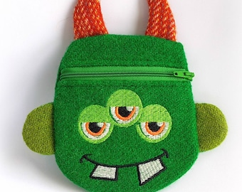 Harris Tweed Monster Purse