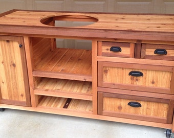 Grill Tables / Cabinets for Kamado Joe Primo or Big Green