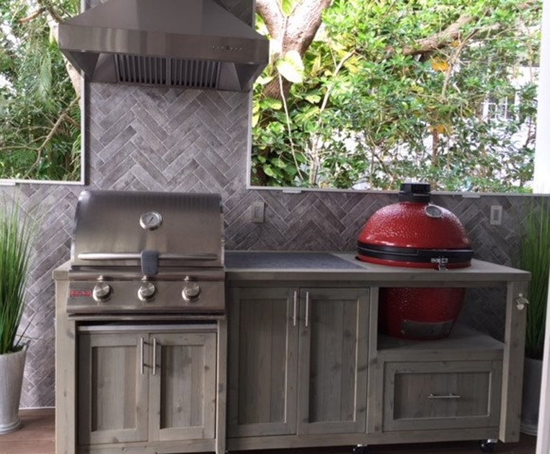 Outdoor Kitchens Mobile Grill Islands Dual Grill Tables image 0