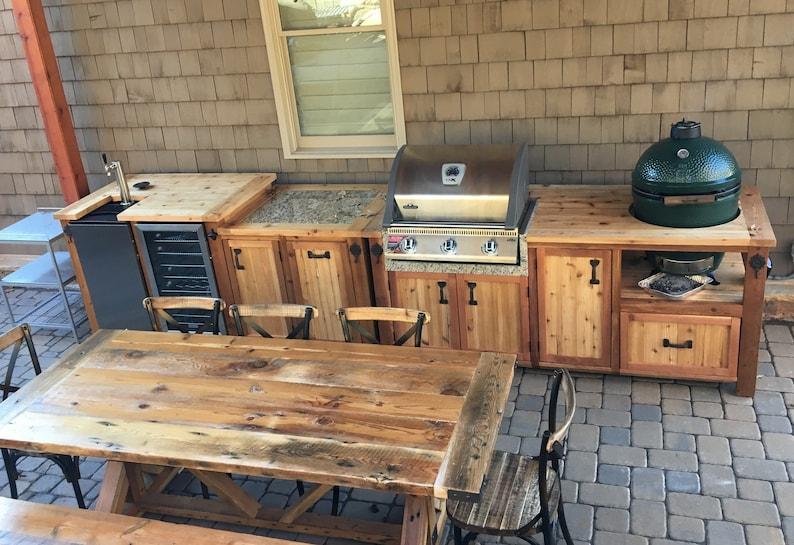 Mini Kühlschrank Mit Schrank : Outdoor küche dual grill schrank kundenspezifische grill etsy