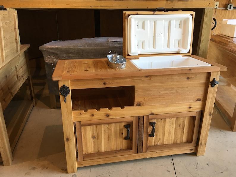 Buffet Sideboard Wooden Cooler Cabinet, Outdoor Patio Buffet Cabinet