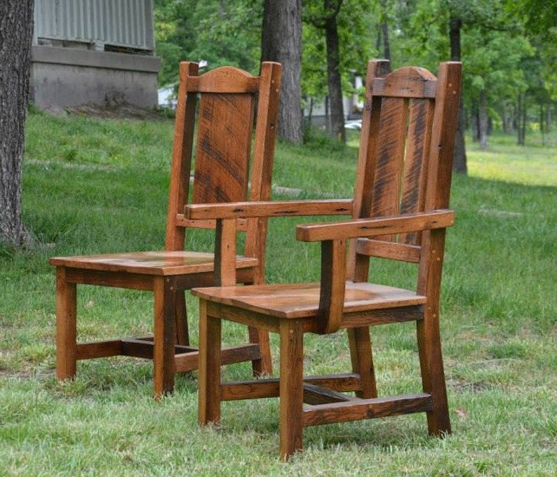 Farmhouse Chairs In Reclaimed Wood Or Distressed Pine To Match Your  Farmhouse Or Bar Height Table