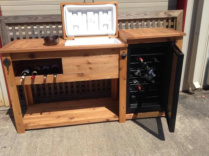 Outdoor Mini Fridge Beverage Bar In, Outdoor Mini Bar Furniture