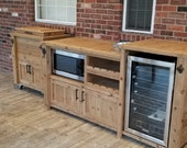 Outdoor Mini Fridge Beverage Bar in your choice of Designs for any Outdoor Patio Bar