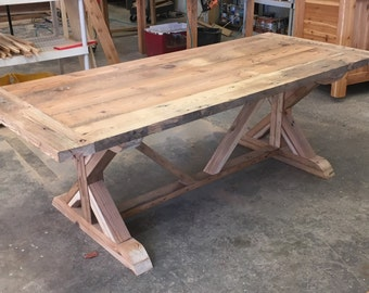 Farm Table, Benches And Chairs In Reclaimed Wood, Barn Wood Or Distressed  Heart Pine
