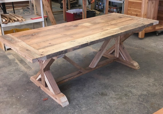 Beau Farm Table Benches And Chairs In Reclaimed Wood Barn Wood Or | Etsy