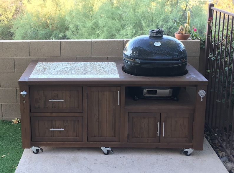Outdoor Küche Kamado Joe : Grill tables cabinets for kamado joe primo or big green egg etsy