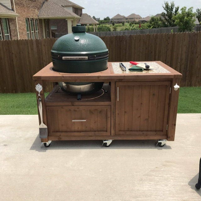 Grill Cabinet: Grill Table / Cabinet For Big Green Egg Kamado Joe Primo