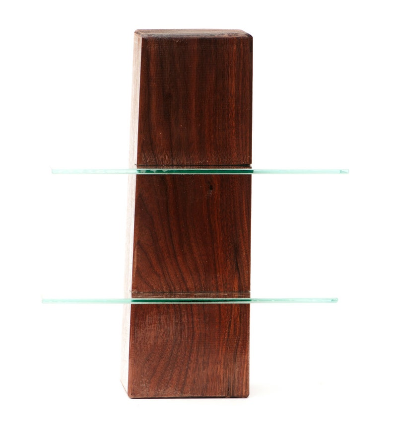 Tremendous Walnut Free Standing Shelving Unit With Two Glass Shelves Low Gloss Surface Home Interior And Landscaping Ferensignezvosmurscom