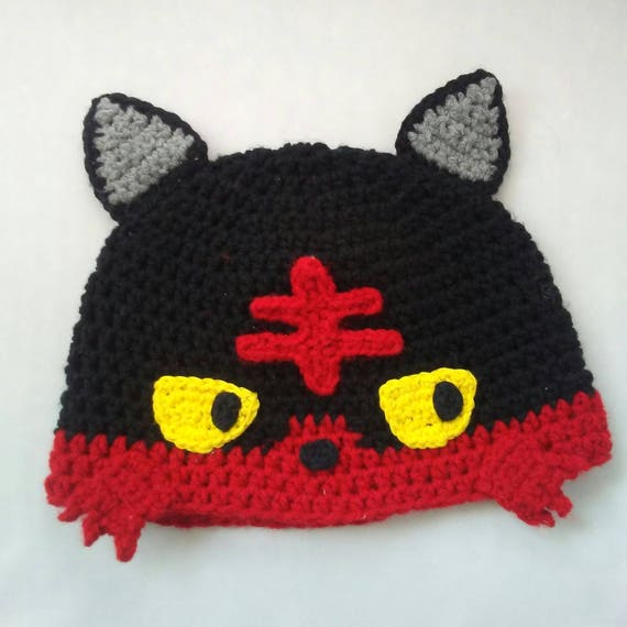 Litten Hat Pokemon Hat Crochet Childrens Hat Crochet Etsy