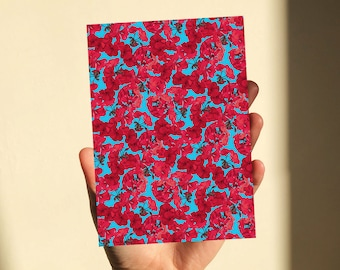 Red and Blue Pattern Print | A6-A4
