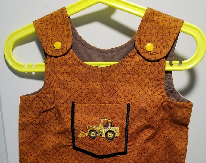 Clearance Short Overalls Size 1t or 9 to 12 Months backhoe Short overalls