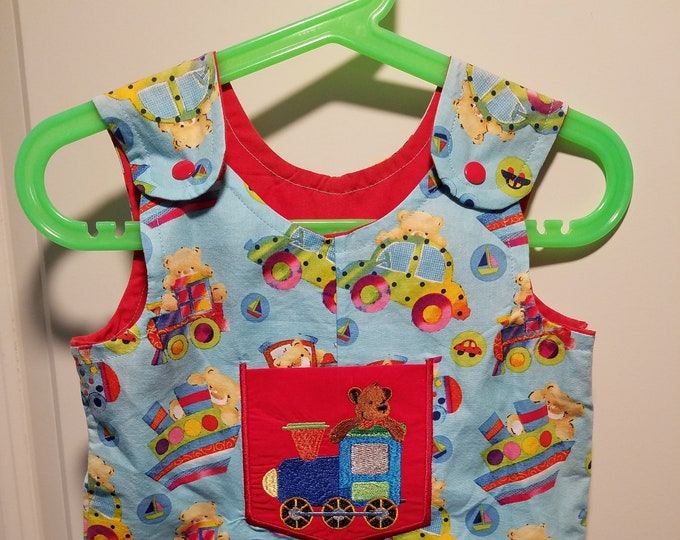 Clearance Short Overalls Size Infant 3-6 , 6-9, and 9-12 Months