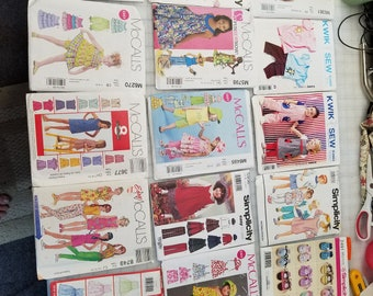 106 Assorted Sewing Patterns all uncut