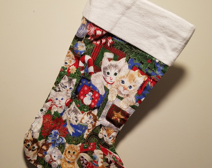 Christmas Stockings Cats in size 15""