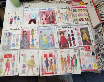 Girls sewing patterns various sizes and styles UNCUT