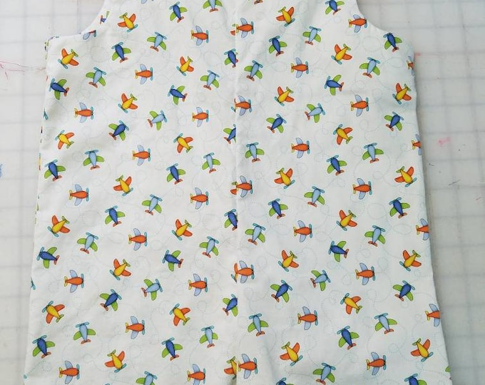 Short Overalls for Infants and toddlers Bright color little planes on a white background newborn, 3m, 6m, 9m, 12m 1T 2T