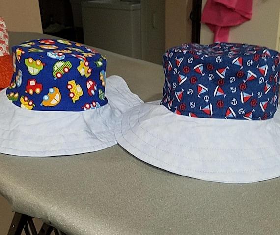 b9a68372eaa Sailboat and Cars Reversible Bucket Hat