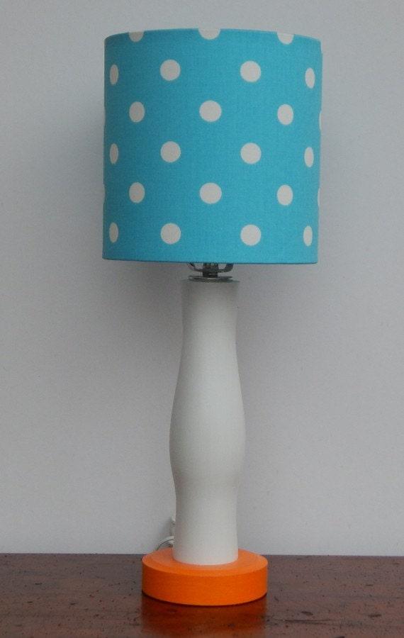 Fait à La Main Petite Girly Bleu/Turquoise à Pois Blanc | Etsy