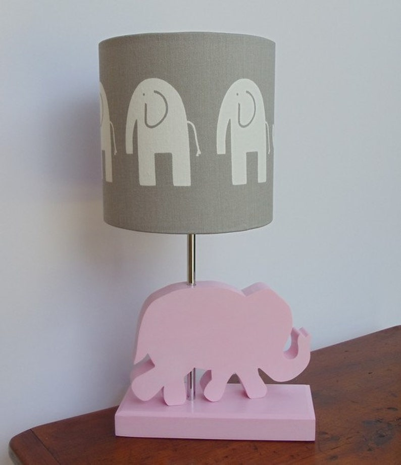 Elephant Lamp Base Handmade Wooden Animal Desk or Table ...