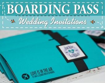 Carte d embarquement Invitations de mariage - Destination personnalisé  invite  02f445ca485