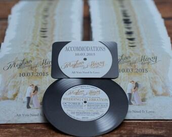 vinyl record wedding invites for music lovers custom invitations handmade in canada by wwwempireinvitesca