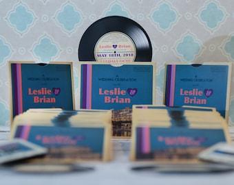 Vinyl Record Invitations Music Themed Wedding Invites Etsy