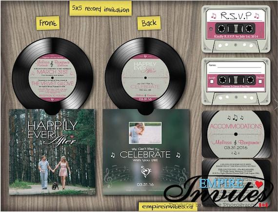 Musik Hochzeit Einladung Vinyl Schallplatte Einladungen