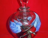 Signed Satava Perfume Bottle or Lidded Art Glass Vase