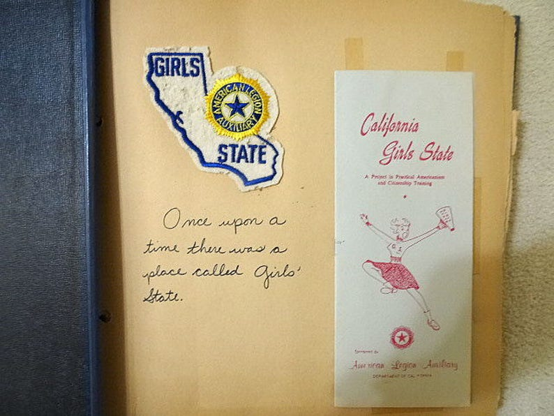 American Legion Girl's State California 1965 Scrapbook