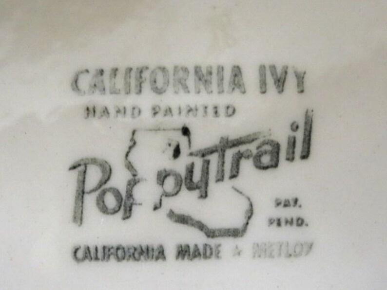 California Ivy Dessert or Bread Plates Metlox Poppytrail California  Set of 6 Replacement